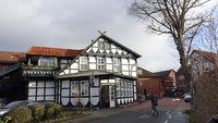 historische Apotheke in schönem Fachwerkhaus