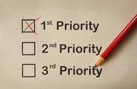 First priority marked on paper