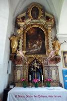 barocke Innenausstattung der Pfarrkirche Maria Himmelfahrt Moos