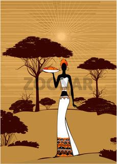 africa - vector background