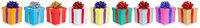 Weihnachten Geschenke Geburtstag Weihnachtsgeschenke schenken isoliert auf weiß
