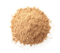 Top view of ground dry ginger powder