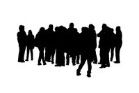 Group of People Silhouette Isolated Graphic
