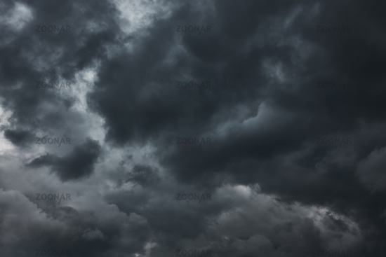 Black havy stormy clouds