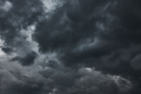 Black havy stormy clouds