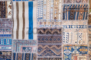 Background of antique handmade turkish kilim rugs