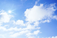 blue sky white clouds sunshine background