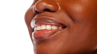 African American Female Smile in Beauty Concept