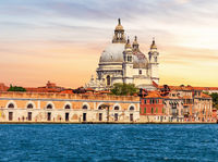 Santa Maria della Salute, view from the canal of Venice, Italy
