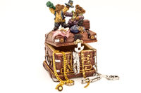 Treasure chest filled with jewelry
