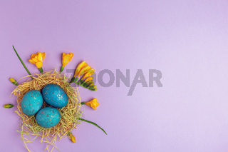 Easter eggs painted with natural dye.