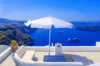 Oia Santorini Greece, caldera scenery