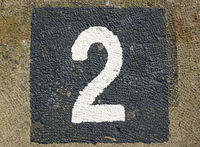 2 - weathered number