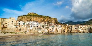Cefalu, medieval village of Sicily island, Italy