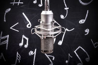 microphone and notes
