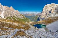 Boedenseen auf der Nordseite des Paternkofel, Dolomiten, Suedtirol