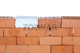 steinmauer mit weißem hintergrund