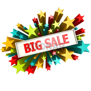 Big sale star banner