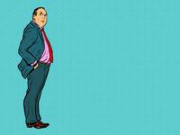 Adult male businessman boss