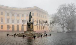 Monument to Duke Richelieu in Odessa, Ukraine