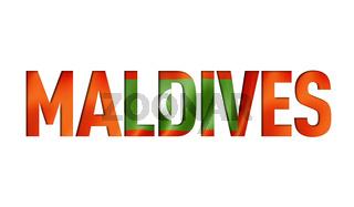 Maldives flag text font