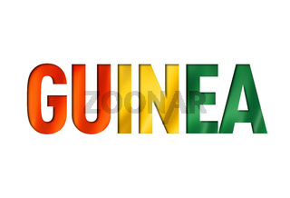 guinean flag text font
