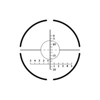 Complicated military crosshair, gun sight icon on white
