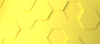Abstract modern yellow illuminating honeycomb background