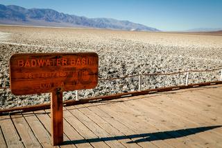 Badwater Basin salt plain Death Valley