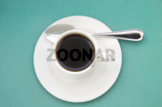 One cup of coffee on saucers
