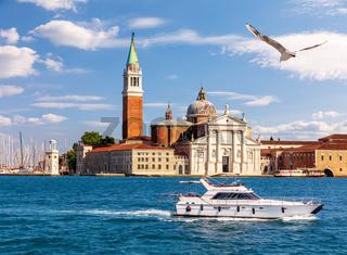 San Giorgio Maggiore island in Venice, Italy