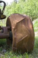 Eisenrad eines Schwerstarbeiters