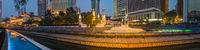 Kuala Lumpur cityscape at sunset, Malaysia. Panorama