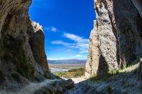 The narrow ravines
