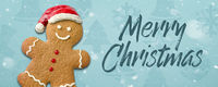Christmas background with a gingerbread man - Merry Christmas
