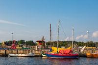 Segelschiffe im Stadthafen von Rostock