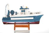 Miniature fishing trawler