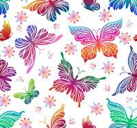 Butterflies, Seamless Pattern