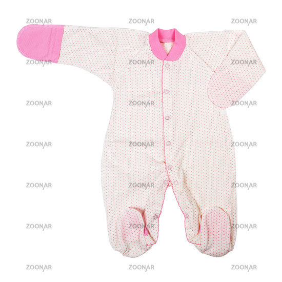 Baby girl clothes isolated on white background, clothes for kids.