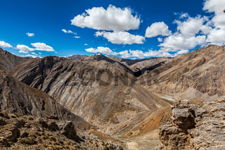 Manali-Leh highway in Himalaya