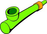 Wooden pipe for smoking icon, icon cartoon