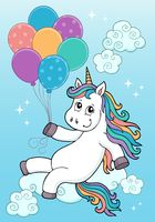 Unicorn with balloons topic image 2