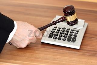 auktion und berechnung