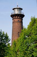 der historische leuchtturm helios tower in köln ehrenfeld