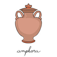 covered amphora