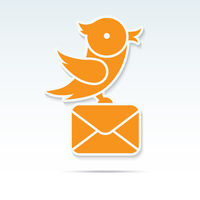 Bird carrying a letter.