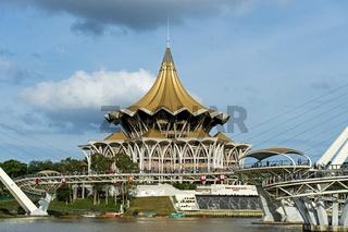 Gebäude des Parlaments von Sarawak, Kuching, Sarawak, Borneo, Malaysia