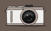 stylish camera symbol
