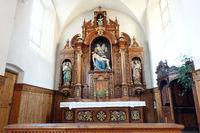 Innenansicht der Kapuzinerkirche Hl. Maximilian Meran