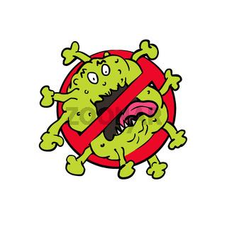 Stop Coronavirus Cartoon Sign
